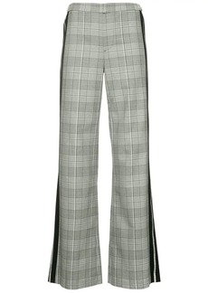 Alice + Olivia check print flared trousers
