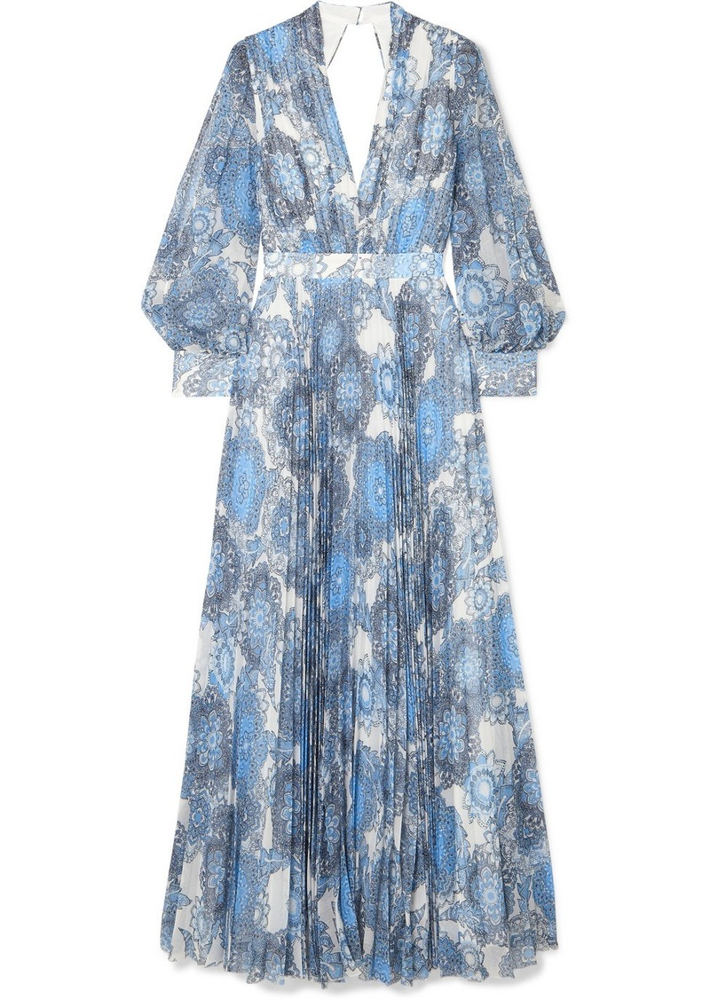 Cheney Cutout Floral-print Georgette Maxi Dress