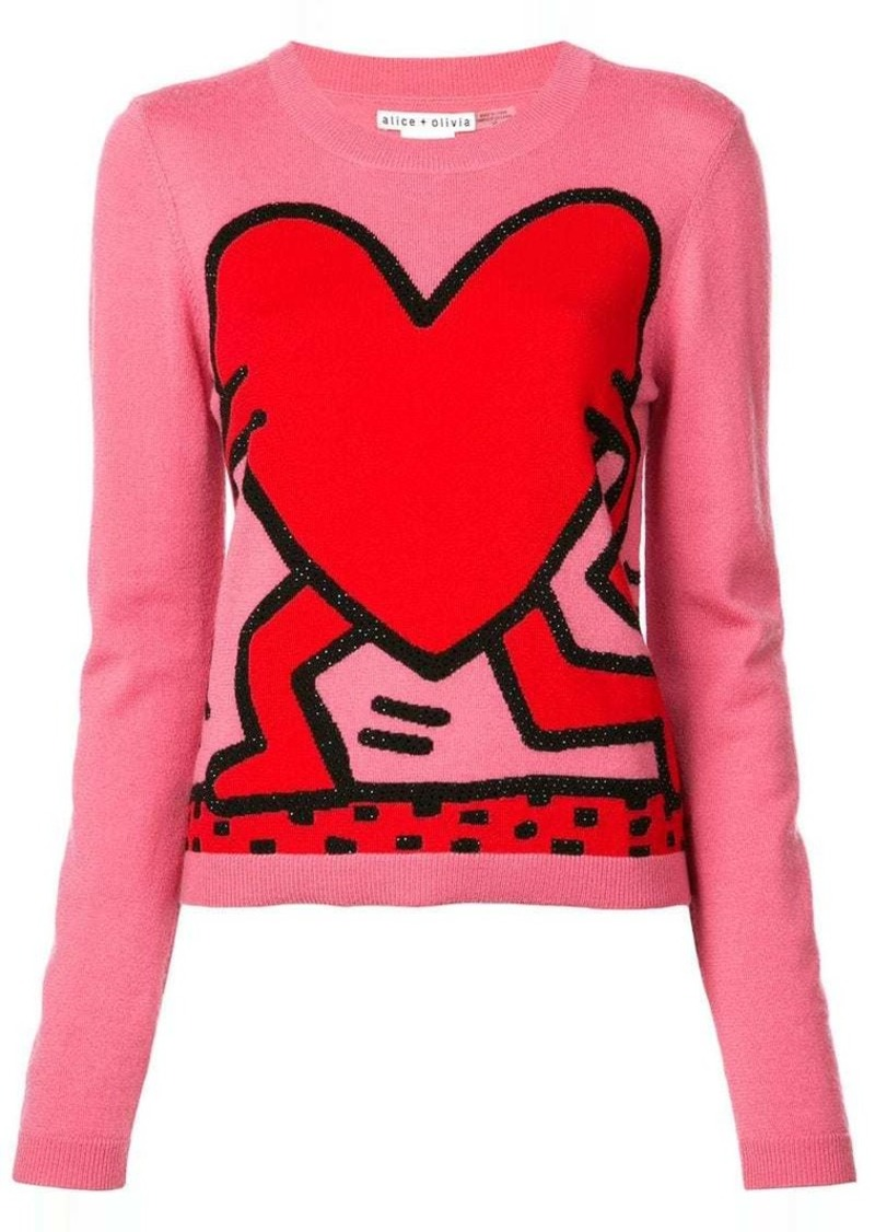 Alice + Olivia chia heart jumper
