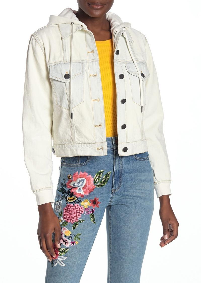 Alice + Olivia Chloe Hoodie Denim Jacket