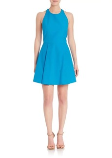 Alice + Olivia Christie Fit & Flare Halterneck Dress