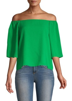 Alice + Olivia Christy Off-The-Shoulder Top