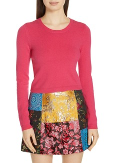 Alice + Olivia Ciara Cropped Cashmere Blend Sweater