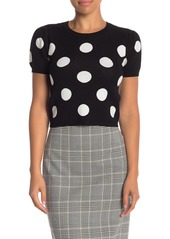 Alice + Olivia Ciara Cropped Polka Dot Sweater