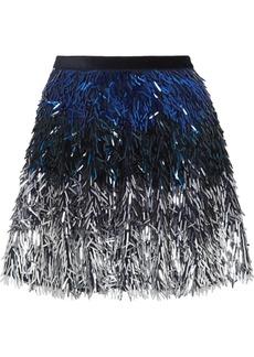 Alice + Olivia Cina Dégradé Sequined Tulle Mini Skirt