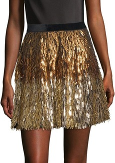 Alice + Olivia Cina Embellished Mini Skirt