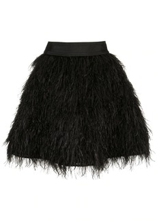 Alice + Olivia Cina feathered mini skirt