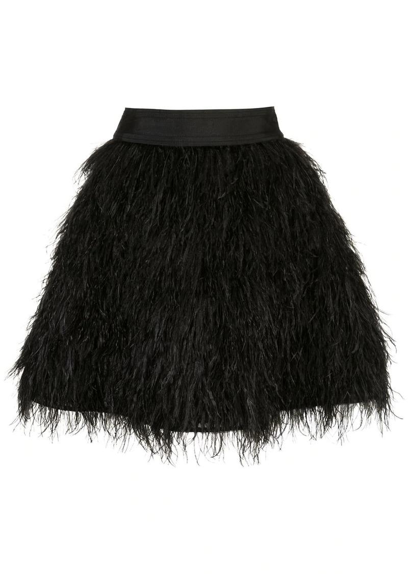 Alice + Olivia Cina feathered mini skirt
