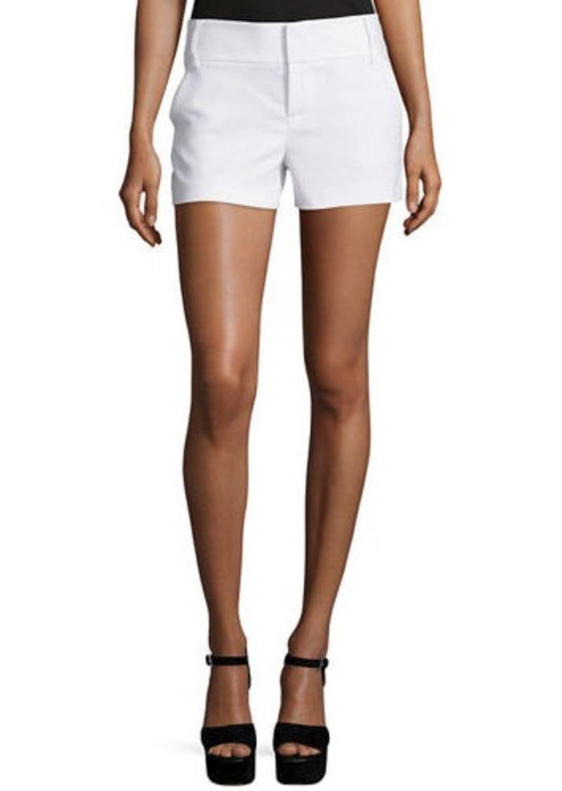 Alice + Olivia Classic Cady Shorts  White