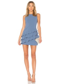 Clive Asymmetric Ruffle Dress
