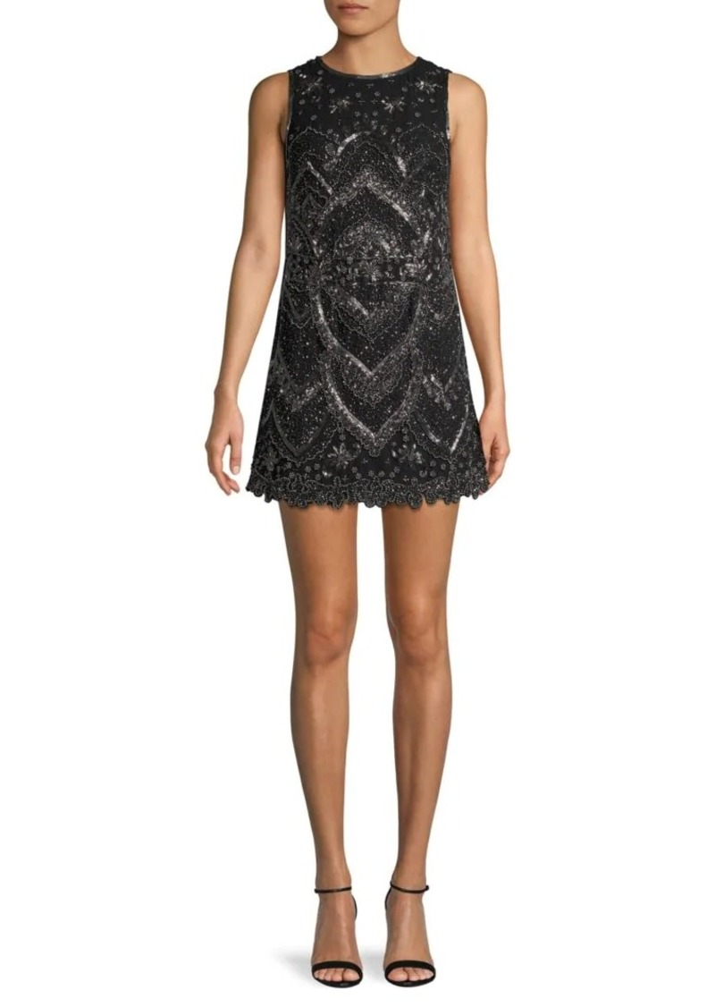Alice + Olivia Clyde Beaded Mini Dress