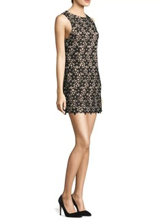 Alice + Olivia Clyde Embroidered Shift Dress