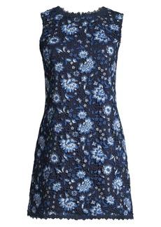 Alice + Olivia Clyde Lace Mini Shift Dress