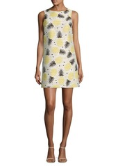 Alice + Olivia Clyde Pineapple-Print Shift Dress