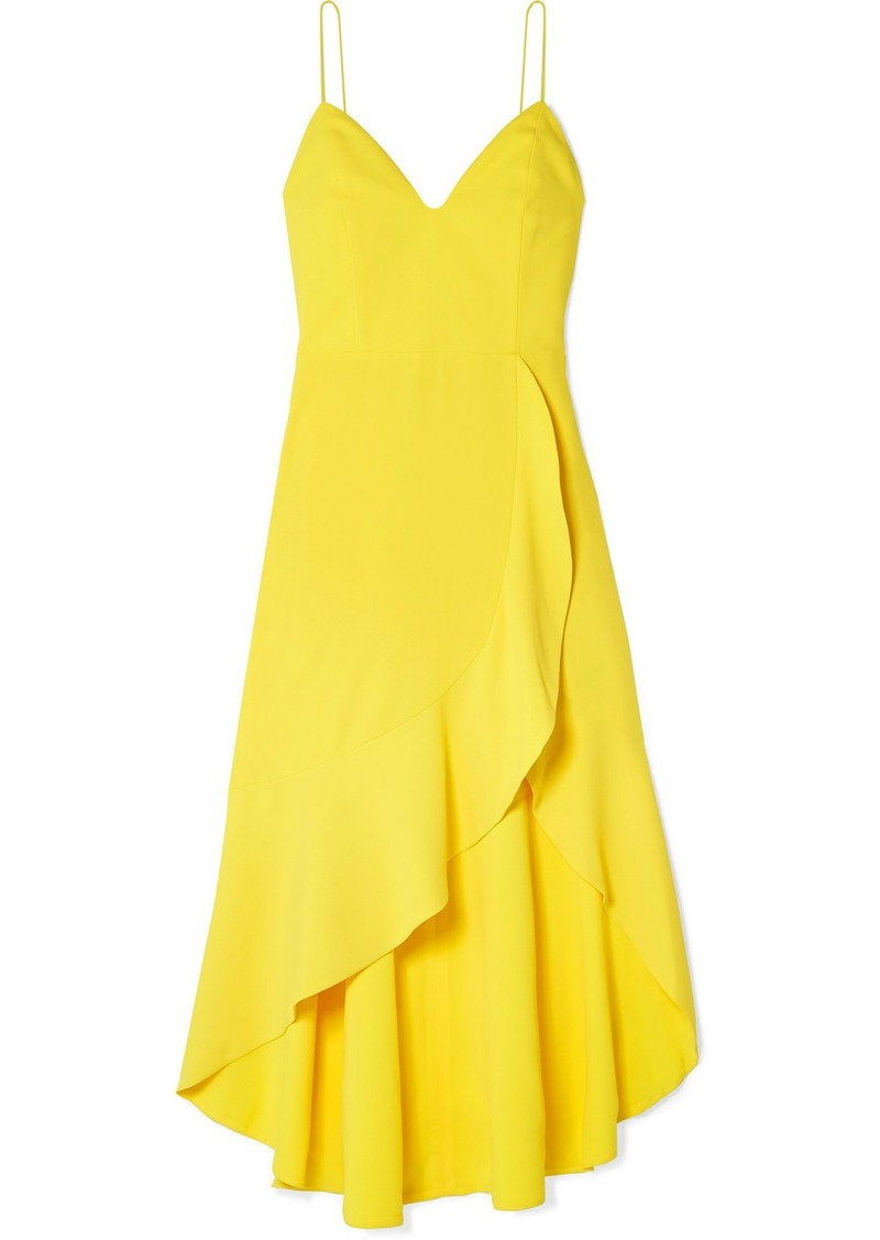 Alice + Olivia Cobi Wrap-effect Crepe Midi Dress
