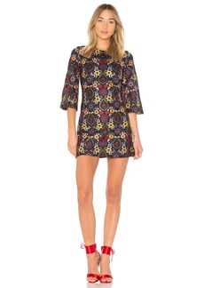 Coley Embroidered Bell Sleeve Dress