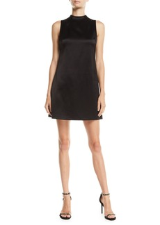 Alice + Olivia Coley Mock-Neck A-Line Dress