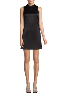 Alice + Olivia Coley Mockneck A-Line Dress