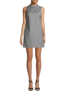 Alice + Olivia Coley Sleeveless Mock-Neck Mini Dress