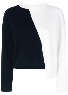 Alice + Olivia colour block asymmetric jumper