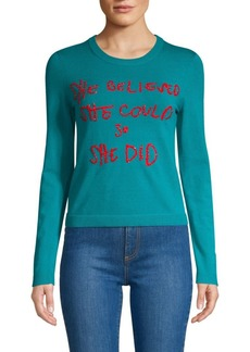 Alice + Olivia Connie Embellished Sweater