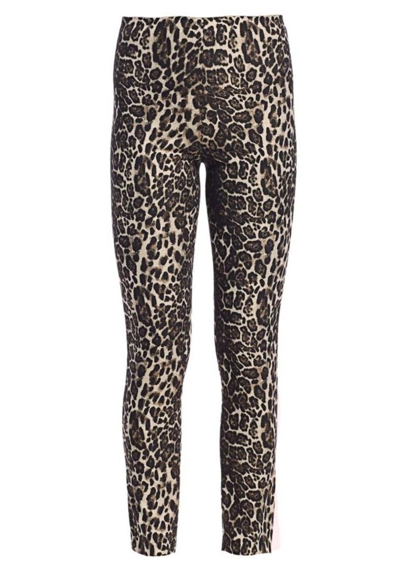 Alice + Olivia Connley High Waist Slim Fit Leopard Print Leggings