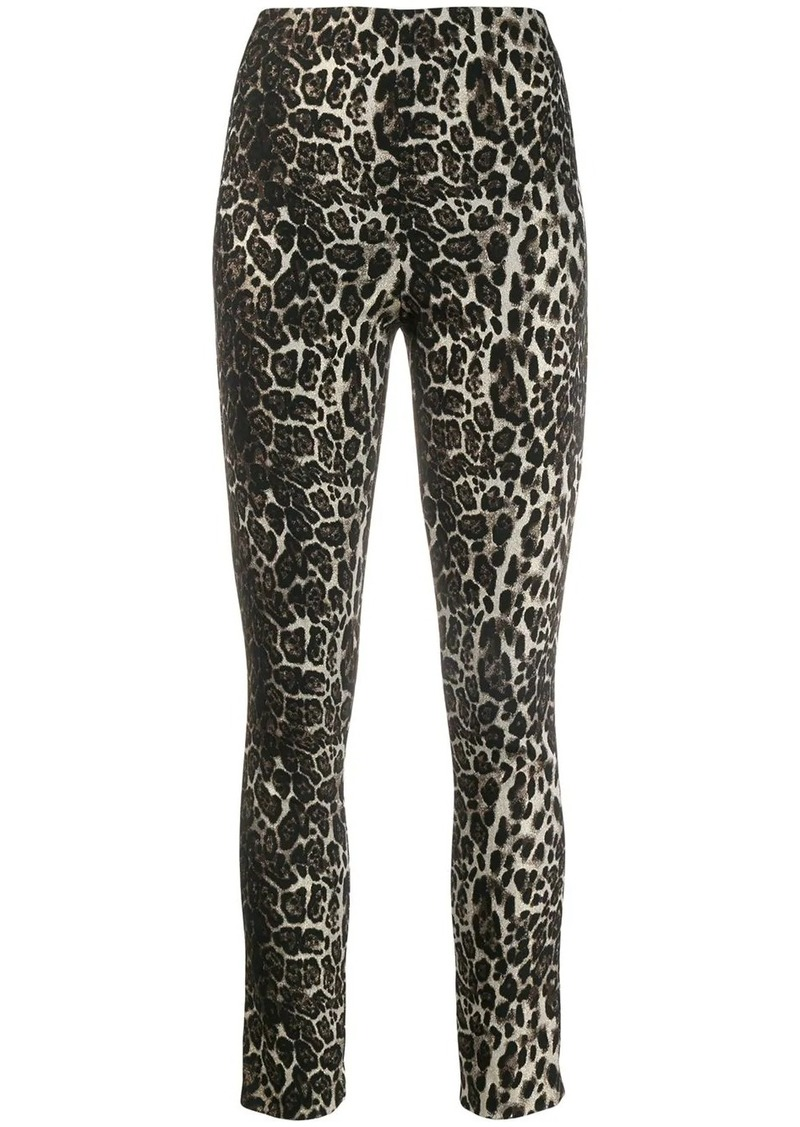 Alice + Olivia Connley shimmer leopard trousers