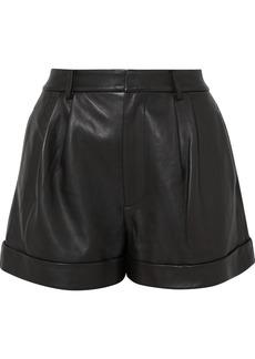 Alice + Olivia Conry Leather Shorts