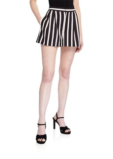 Alice + Olivia Conry Pleated Cuffed Shorts