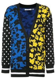 Alice + Olivia contrast panel cardigan