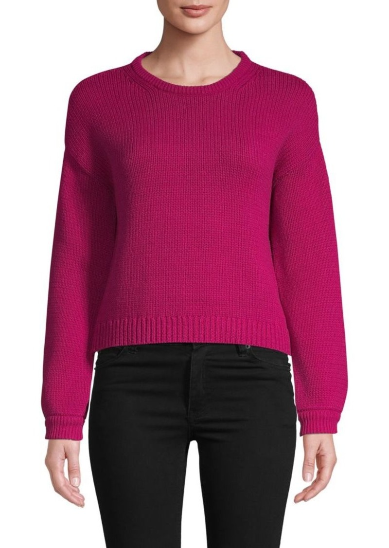 Alice + Olivia Cotton Blend Cropped Sweater
