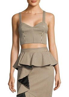 Alice + Olivia Cristi Cropped Top