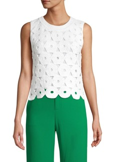 Alice + Olivia Crochet Cotton-Blend Top