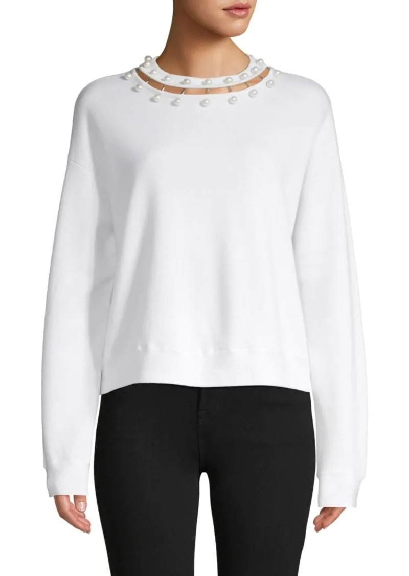 Alice + Olivia Cropped Wool Sweater