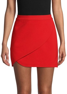 Alice + Olivia Crossover Mini Skirt