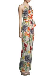Alice + Olivia Cyprus Floral-Print Wrap Jumpsuit