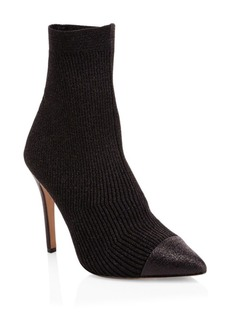 Alice + Olivia Darbin Ribbed Stiletto Sock Boots