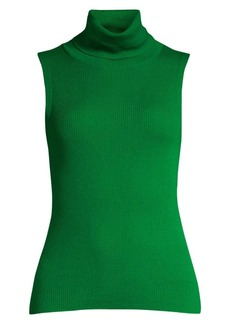 Alice + Olivia Darcey Sleeveless Rib-Knit Turtleneck