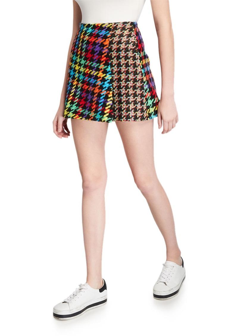 Alice + Olivia Darma Combo High-Waist Crossover Skirt