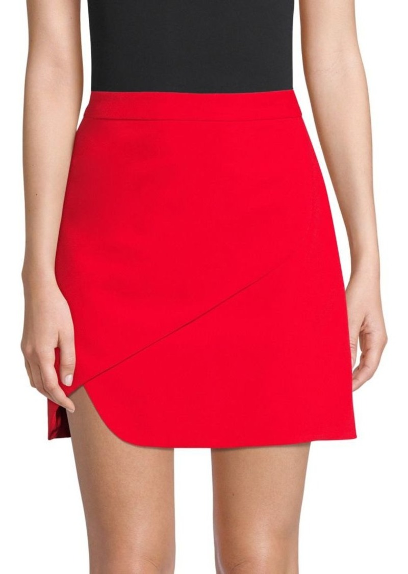Alice + Olivia Dasia Asymmetric Fold Mini Skirt
