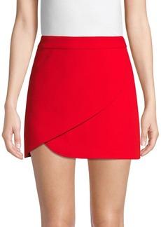 Alice + Olivia Dasia Asymmetric Fold Mini Skirt