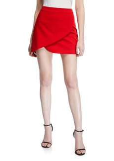 Alice + Olivia Dasia Asymmetrical Mini Skirt