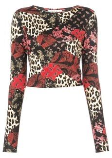 Alice + Olivia Delaina multi-print sweatshirt