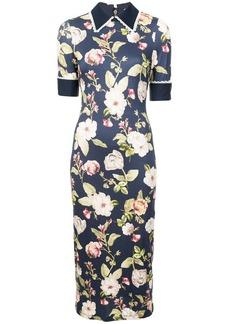 Alice + Olivia Delora fitted collared dress