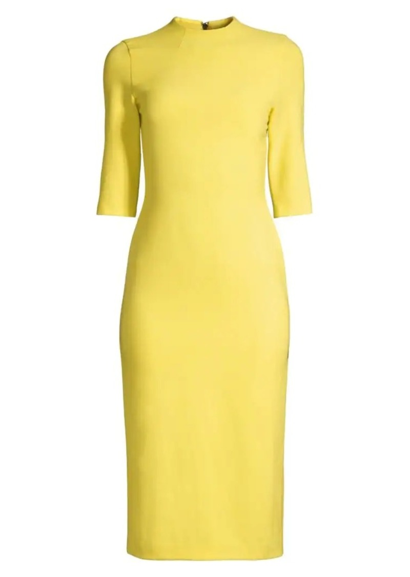 Alice + Olivia Delora Fitted Mockneck Dress