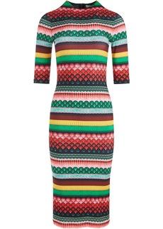 Alice + Olivia Delora Boho Geo-print midi dress