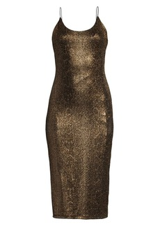 Alice + Olivia Delora Glitter Midi Dress