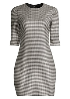 Alice + Olivia Delora Houndstooth Mini Dress