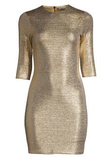 Alice + Olivia Delora Metallic Mini Bodycon Dress