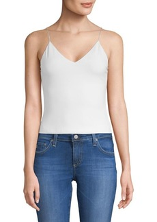 Alice + Olivia Delray Fitted V-Neck Top